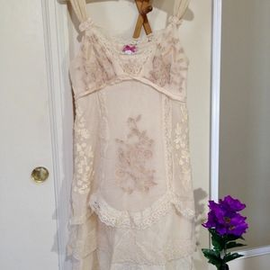YOANA BARASCHI SILK Lace Embroidered Dress Size 2